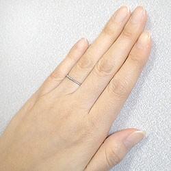 ツイストリング ひねり線 ホワイトゴールドK18 地金指輪 18金 ピンキーリング スパイラルリング 究極ring