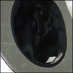 フラワーパターン 中折れハット ブラック basiquenti