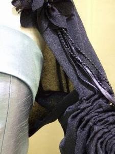 マントール008【即納】【送料無料】ちょっぴりスリム♪お袖のクシュクシュ感がかわいい☆結婚式【ボレロ】