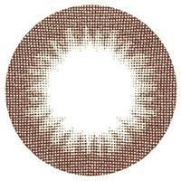 山本優希ちゃんイメージカラコン【エンジェルカラー】アネックスブラウン☆2枚1組【度なし/1ヶ月/14.0mm/ブラウン系/グラデーション】