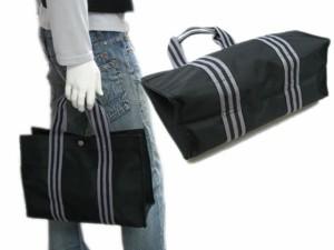 ストライプテープトートバッグ(小)☆ブラック