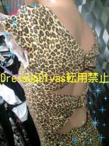 Divas☆背中アキバックルSEXYドレスワンピ☆豹柄 【TOPOP8L28】