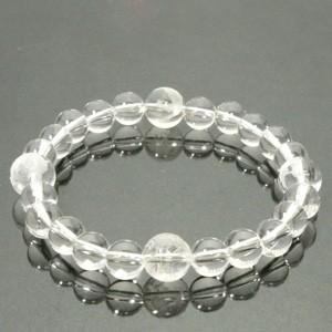 ◆風水・四神獣手彫り水晶10mm玉◆ 19cm 水晶(クリスタル)ブレスレット (メンズLサイズ)