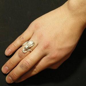 迫力のあるコブラ シルバーリング 7号〜23号【送料無料】指輪/メンズ/レディース/シルバー925/大きいサイズ