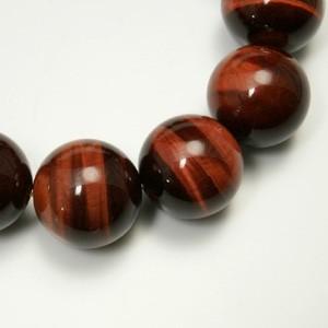 16mm 19cm レッドタイガーアイ(赤トラ目石)ブレスレット (メンズLサイズ)/天然石/メンズ/パワーストーン/ギフト