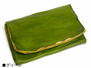TIDEWAY タイドウェイ BELLY ベリーシリーズ ウォッシュレザーカードケース グリーン 63-0814