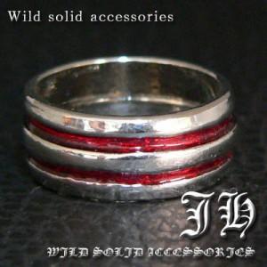 【R29★19号】ペアにおススメ♪レッドライン高品質シルバーRG加工リング/指輪