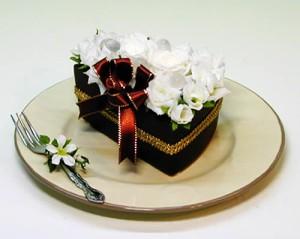 【送料無料】プリザーブドフラワーチョコレートケーキ 【誕生日】【バレンタイン】