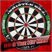 """BLITZER ハードダーツボード BB-3 """"The Hit Man""""■玄人志向のサイザル麻ハードボード。"""