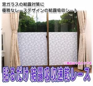 貼るだけ結露吸収速乾レース■窓に貼るだけ!インテリア性の高い窓ガラス結露吸収シート