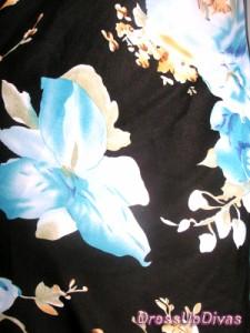 スカーフ花和柄☆小悪魔姫のコサージュ付ミニドレスワンピ〜ス♪【DREOP9A15】