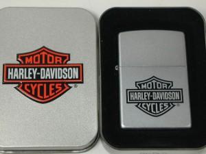 ジッポーZippo ハーレー/黒 ロゴ・クローム銀色#205Harly-Davidson