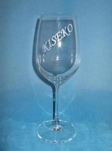 ★名入れレッドワイングラス♪<名前・文字>誕生祝・結婚祝のプレゼントに!
