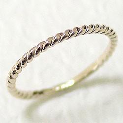 ツイストリング ひねり線 イエローゴールドK10 地金指輪 10金 ピンキーリング スパイラルリング 究極ring