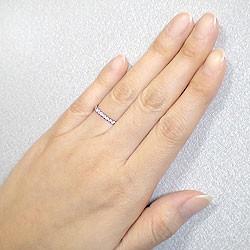 エタニティリング ダイヤリング ピンクゴールドK10 指輪 10金 ピンキーリング 天然ダイヤモンド 0.20ct 送料無料 diaring