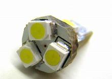 T7 SMD5連 LEDウエッジバルブ スティックタイプ ホワイト 4個Set エアコンパネル メーターに