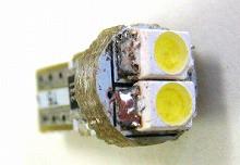 T5 SMD2連 LEDウェッジバルブ ホワイト 4個Set メーター エアコンに