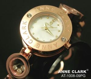 アンクラーク 腕時計 レディース チャームブレス ダイヤモンド ピンクゴールド ホワイトシェル AT1008-09PG 時計 ウォッチ