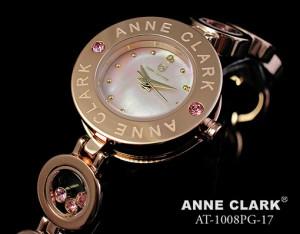 アンクラーク 腕時計 レディース チャームブレス ダイヤモンド ピンクゴールド ピンクシェル AT1008-17PG 時計 ウォッチ
