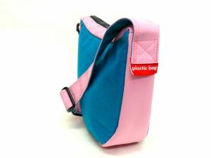 ☆さらに値下げの50%オフ!! plastic bag プラスティックバッグ ショルダーバッグ Sサイズ ブルーxレッド