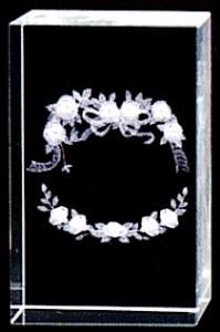 3Dクリスタル(花リング)結婚・結婚祝い
