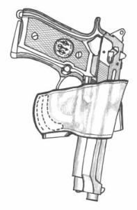 イーストA エアガン 革製シルエットホルスター ベルトスライド No.201
