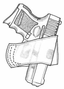 イーストA エアガン 革製シルエットホルスター ベルトスライド No.205