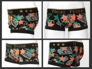★NIGEL FEVER★MensBoxer ナイジェルフィーバー/ローライズボクサーパンツ[TAPE テープ]ブラック(黒)/オレンジ/ピンク