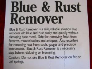 【遠州屋】 ブルー&ラストリムーバー剤 【Blue & Rust Remover】 古いガンブルー落とし液 (市/R)★