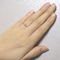 ハート ダイヤリング 一粒石 ピンクゴールドK10 指輪 K10PG ピンキーリング 送料無料diaring