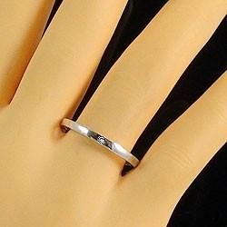 一粒ダイヤ ペアリング 結婚指輪 マリッジリング ホワイトゴールドK18 ダイヤモンド 指輪 送料無料 2本セット K18WG