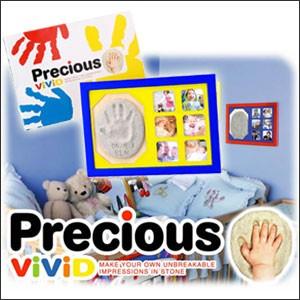 【プリシャス ヴィヴィット ブルー PV002】赤ちゃん 手形、ベビー 手形、アルバム ベビー、手形 足型、粘土 手形