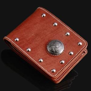 【farian】メンズサイフ バッファロースタッズ 二つ折り財布 CL-973