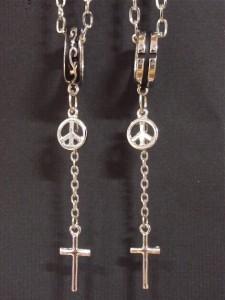 クロスYスタイルネックレス・メール便(ゆうパケット)なら送料無料・ロザリオ・十字架・ロック・Rock・きれいめ・V系・千均・ M-1948