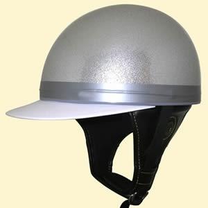 SPEED PIT (スピードピット) 湾岸 コルク 内装 ☆ ツバ付き ラメ 半キャップ TNK TR-40C /バイク用 ハーフヘルメット