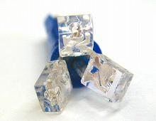 T5 開花3連 LEDウエッジバルブ ブルー 5個Set