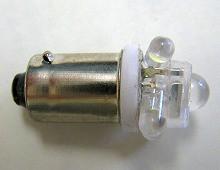 G14/BA9s FLUX単発+砲弾型4連 ホワイト 2個Set