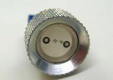 T10 2W級 LEDウェッジバルブ アルミヒートシンク ブルー 2個Set ポジション メーター ナンバー