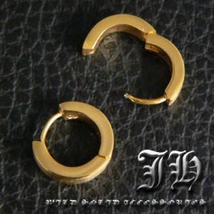 【sp47】最安☆1個売り!!ゴールド★最高級ステンレスsvピアス!!★シンプルリング