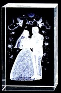 名入れ3Dクリスタル(ニューウェディング)結婚・結婚祝い