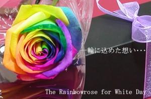【送料無料】ブラックBOXレインボーローズ生花一輪 【お誕生日】【記念日】【プレゼント】