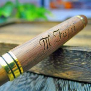 名入れ ボールペン  名前入り ペン 【 木製ボールペン  [ ブラウン・ナチュラル ] 】 ホワイトデー プレゼント