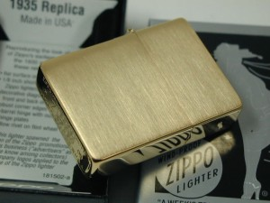 Zippo 1935B レプリカ /3バレル・外ヒンジ★CCブラス真鍮無垢/世界初復刻・新品未開封
