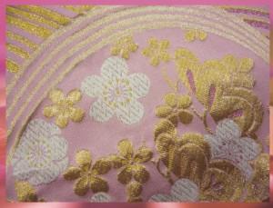 すぐ使える♪お仕立上がり正絹振袖ぜ〜んぶ揃った豪華フルセット黒地薄紫ボカシ花花