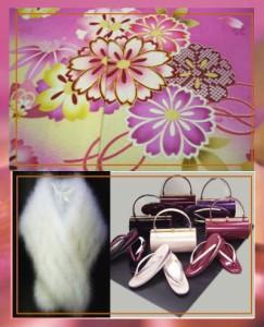 セミオーダー正絹振袖ぜ〜んぶ揃った豪華フルセット★ピンク地古典花文様