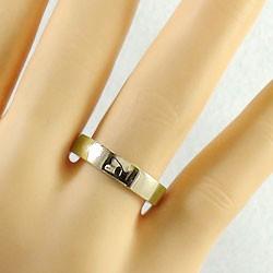 ペアリング K10YG 結婚指輪 マリッジリング イエローゴールドK10 平打ち指輪 ジュエリー ブライダル
