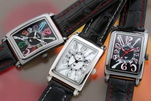 ミッシェル ジョルダン/MICHAEL JURDAIN メンズ腕時計 5Pダイヤ ブラック文字盤 ブラックレザーベルト SG-3000-2
