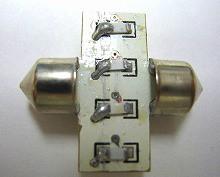 T8×28mm ルームランプ SMD12連 LED両口金バルブ ホワイト 2個Set