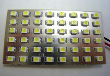 ルーム球 SMD48連 LEDルームランプ 31mm/36mm/BA9S/T10ソケット付 ホワイト 1個