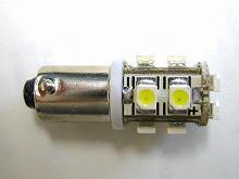 BA9s/G14型無極性タイプ超高輝度SMD10連 1セット2個入り ホワイト prv